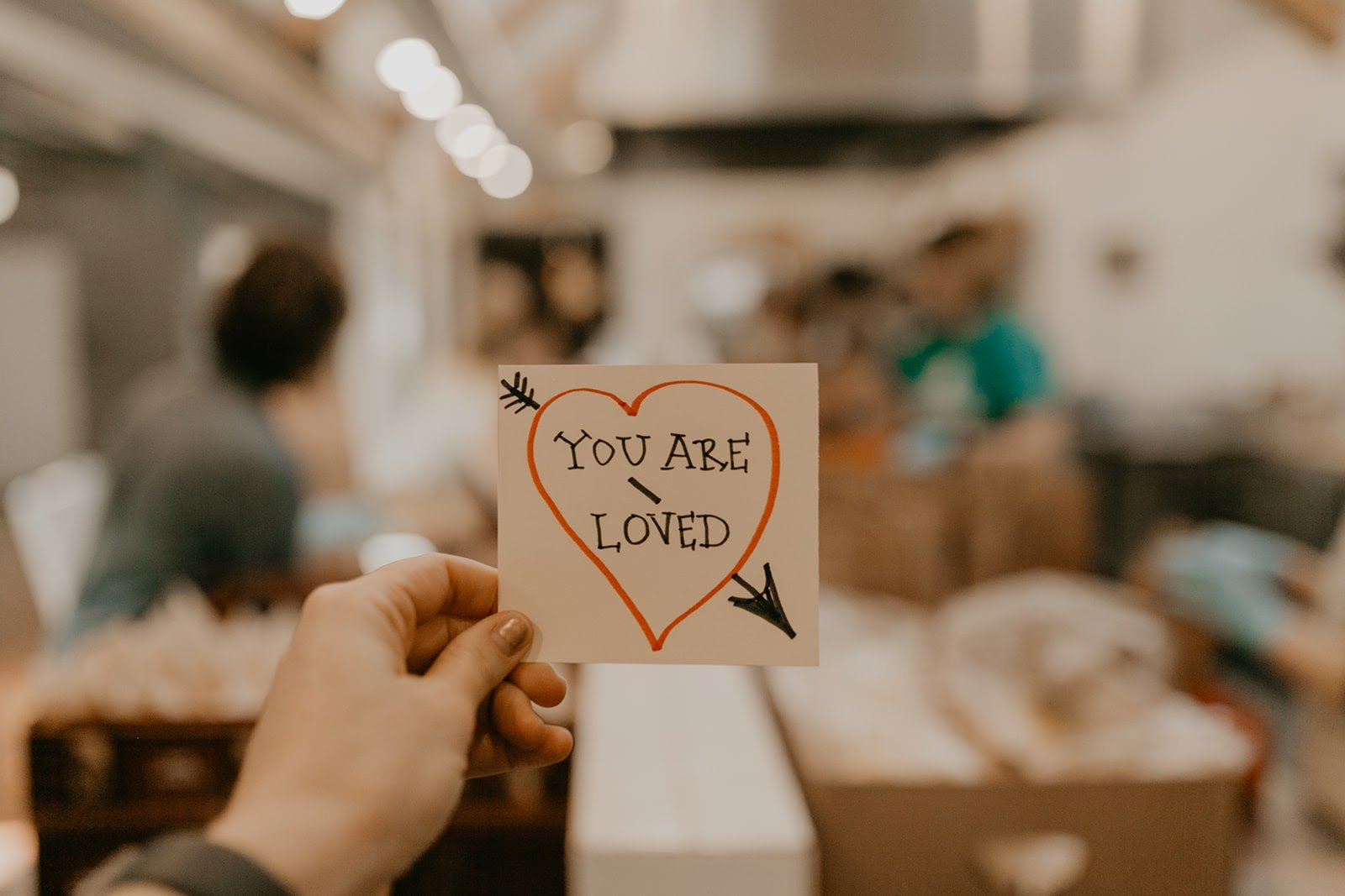 you are loved note